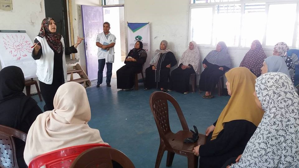 THE NATIONAL CENTRE FOR COMMUNITY REHABILITATION IMPLEMENTING A PSYCHOLOGICAL SUPPORT SESSION AT THE WOMEN'S ACTIVITY CENTER