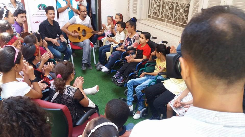 THE NATIONAL CENTER FOR COMMUNITY REHABILITATION IMPLEMENTS A MUSIC THERAPY SESSION IN PARTNERSHIP WITH AL-SUNUNU FOUNDATION