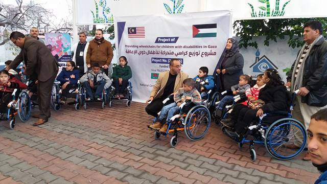 NCCR PROVIDES WHEELCHAIRS TO CHILDREN WITH DISABILITIES WITH SUPPORT FROM VIVA MALAYSIA-PALESTINE