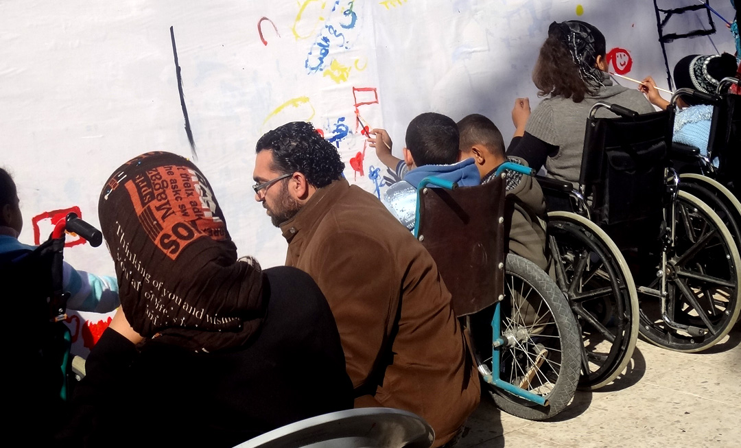 A MURAL WITH THE PARTICIPATION OF WOMEN AND CHILDREN WITH DISABILITIES