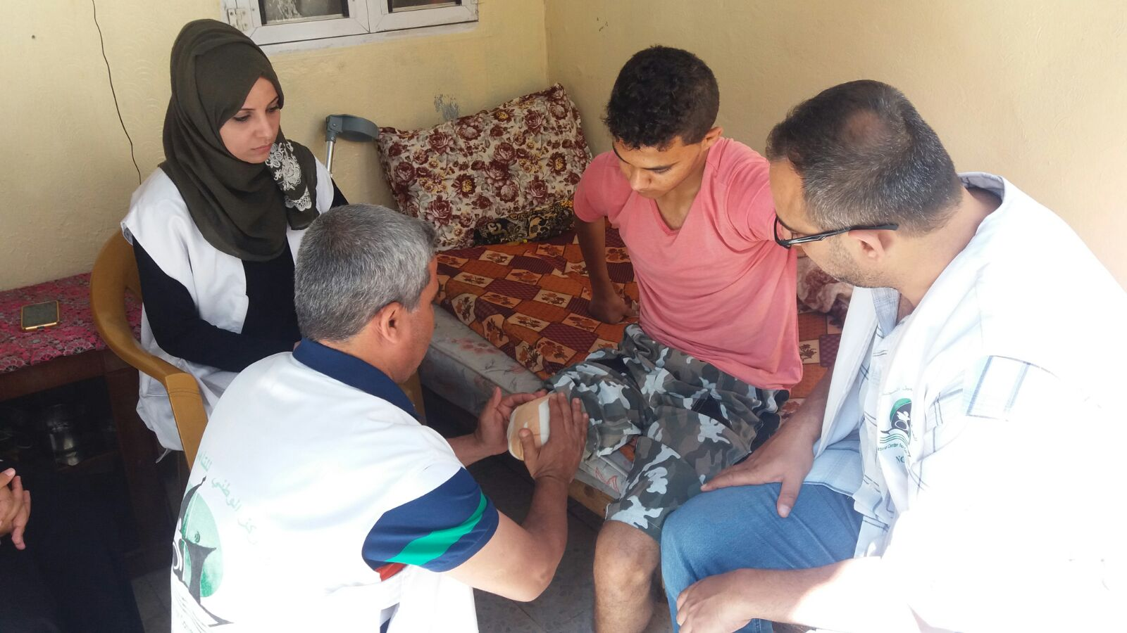NCCR TEAMS CONTINUE HOME CARE VISITS TO NEWLY INJURED PEOPLE AFTER PROTESTS ON GAZA BOARDERS